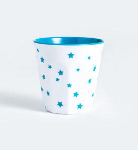Barel melamine cyan stars cups 260mL - set of 6