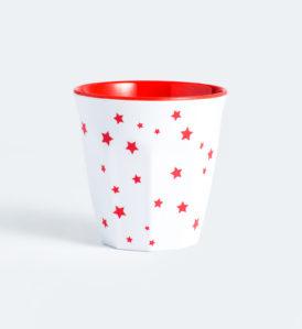 Barel melamine red stars cups 260mL - set of 6