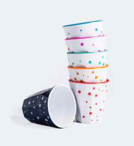 Barel melamine assorted stars cups 260mL - set of 6