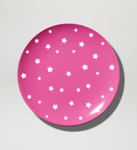 Shooting Stars Magenta Coloured Melamien Plate 25cm